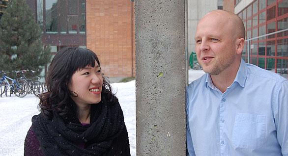 stipendiat i teologi, Silje K. Bjørndal og studiedekan Atle O. Søvik