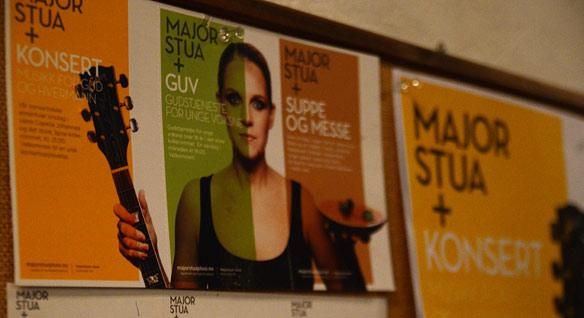 Den visuelle profilen er viktig for merkevarebyggingen av Majorstua+. Plakater og brosjyrer skal se proffe ut.