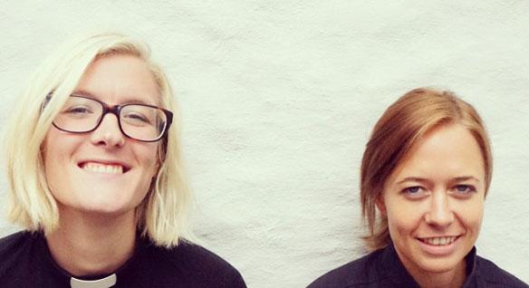 Kirken må i framtida beherske sosiale medier, mener Ingrid Nyhus og Anne Line Kroken (foto fra @stjakobprestene).